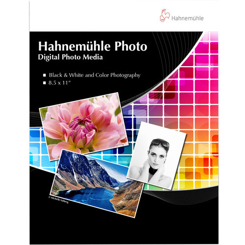 """Hahnemuhle Photo Paper Sample Pack- 8.5 x 11"""", 14 Sheets"""