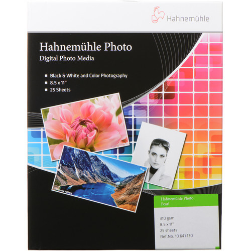 "Hahnemühle Photo Pearl 310 Paper- 8.5 x 11"", 25 Sheets"