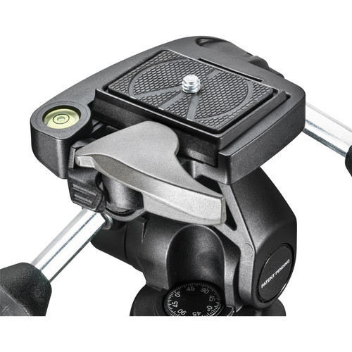 Manfrotto MH804 3-Way, Pan-and-Tilt Head with 200LT-PL Quick Release Plate