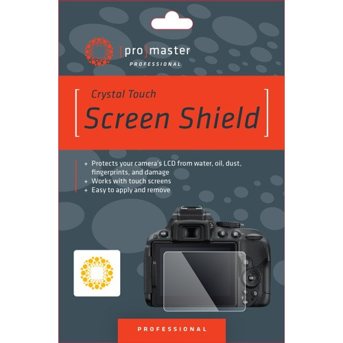 ProMaster Crystal Touch Screen Shield LCD Protector - Nikon D3200 and D3300