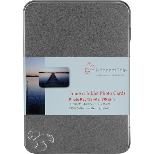 "Hahnemuhle Photo Rag Baryta FineArt Photo Cards- 4 x 6"", 30 Cards"