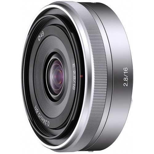 Sony E 16mm f/2.8 Lens- Silver