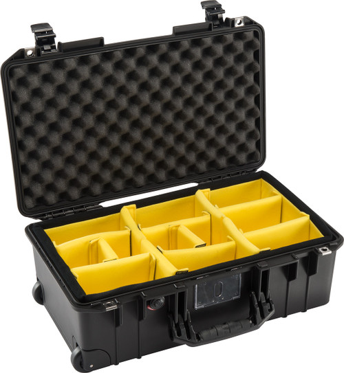 Pelican 1535AirWD Wheeled Carry-On Case- Black with Dividers