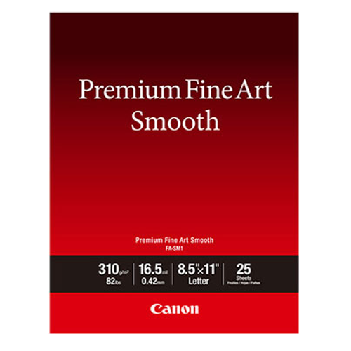 "Canon Premium Fine Art Smooth Paper- 8.5 x 11"", 25 Sheets"