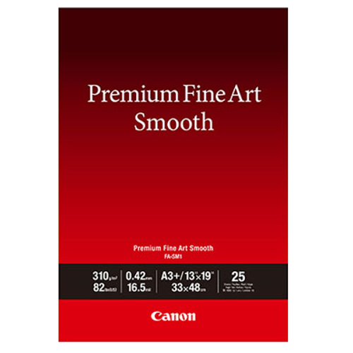 "Canon Premium Fine Art Smooth Paper- 13 x 19"", 25 Sheets"