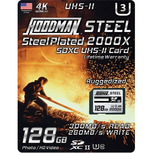Hoodman Steel 2000x SDXC UHS-II Memory Card- 128GB