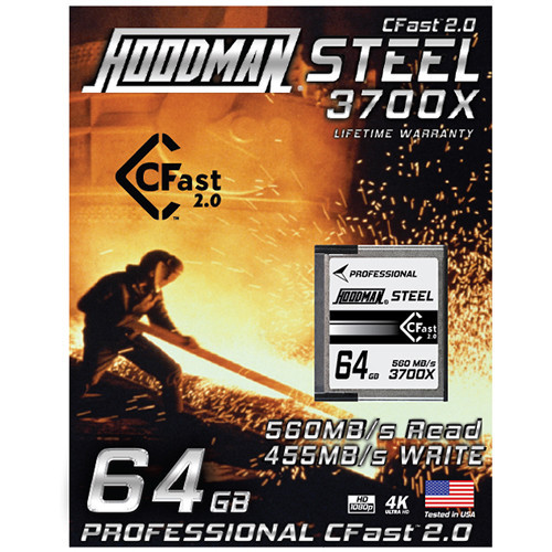 Hoodman 64GB HCFAST Steel Memory Card