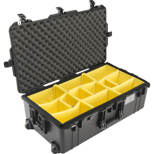 Pelican 1615AirWD Wheeled Check-In Case With Dividers- Black