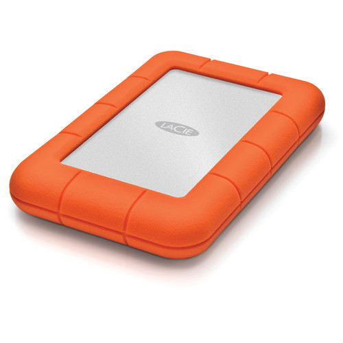 LaCie Rugged USB 3.1 Gen 1 Type-C External Hard Drive - 4TB