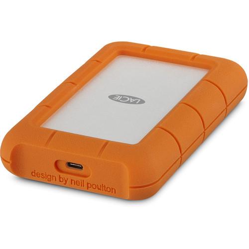 LaCie Rugged USB 3.1 Gen 1 Type-C External Hard Drive - 2TB