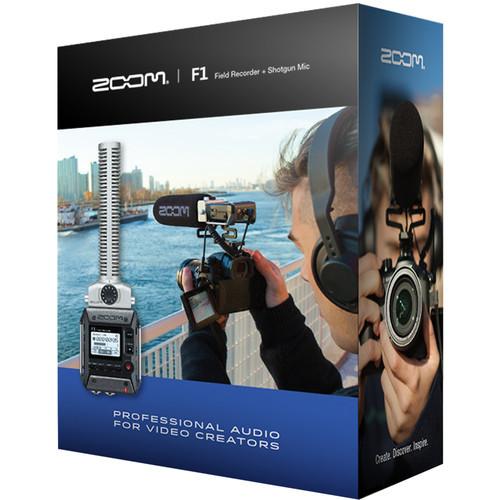 Zoom F1 Field Recorder with Shotgun Microphone