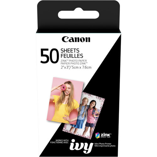 """Canon 2 x 3"""" ZINK Photo Paper Pack- 50 Sheets"""