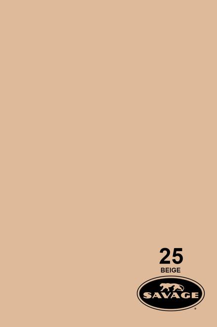 Savage Widetone Background Paper 107 Inch x 12 Yard Roll - #25 Beige