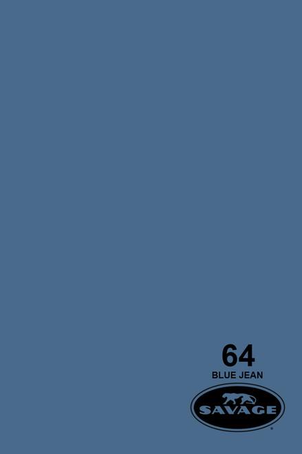 Savage Widetone Background Paper 107 Inch x 12 Yard Roll - #64 Blue Jean