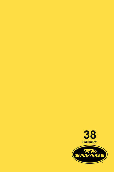Savage Widetone Background Paper 107 Inch x 12 Yard Roll - #38 Canary