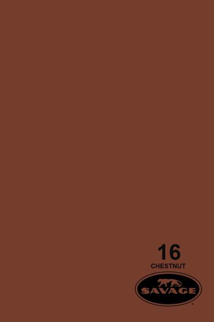 Savage Widetone Background Paper 107 Inch x 12 Yard Roll- #16 Chestnut