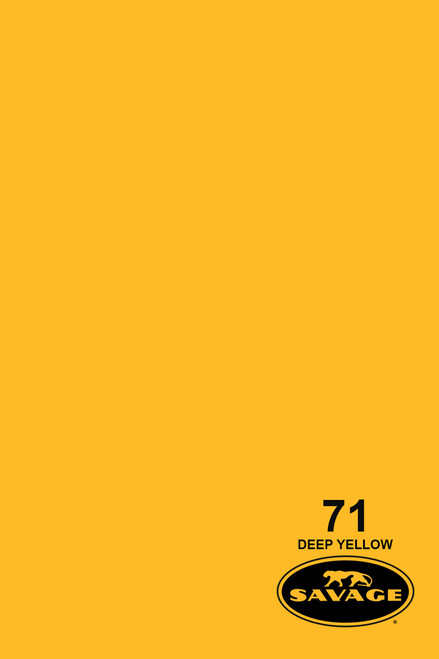 Savage Widetone Background Paper 107 Inch x 12 Yard Roll- #71 Deep Yellow