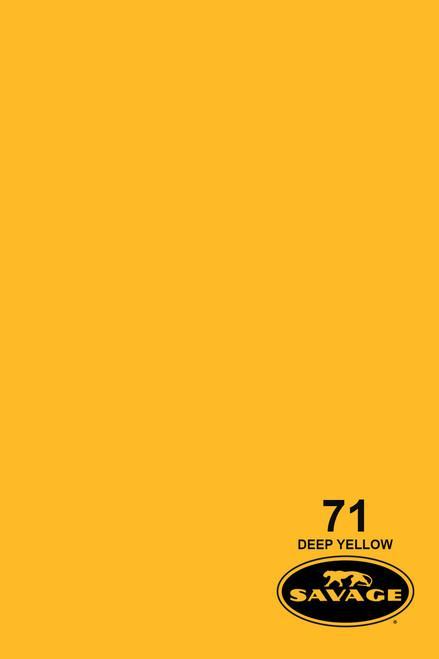 Savage Widetone Background Paper 107 Inch x 12 Yard Roll - #71 Deep Yellow