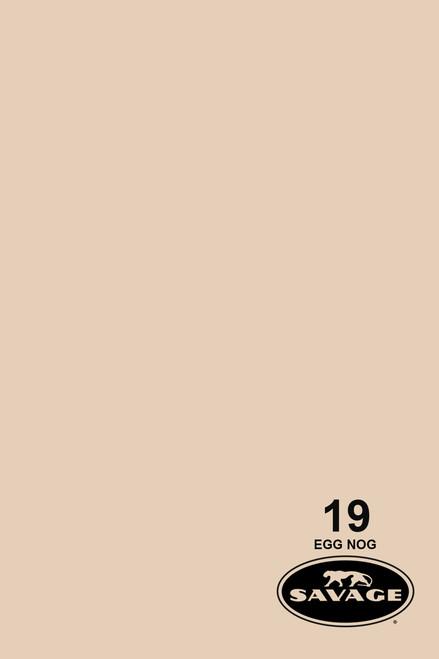 Savage Widetone Background Paper 107 Inch x 12 Yard Roll - #19 Egg Nog