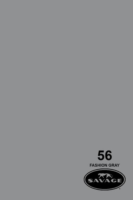 Savage Widetone Background Paper 107 Inch x 12 Yard Roll - #56 Fashion Gray