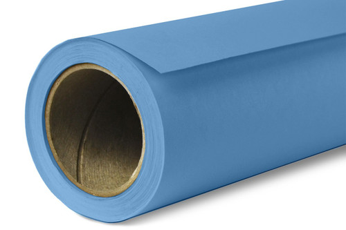 Savage Widetone Background Paper 107 Inch x 12 Yard Roll- #30 Gulf Blue