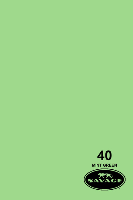 Savage Widetone Background Paper 107 Inch x 12 Yard Roll - #40 Mint Green