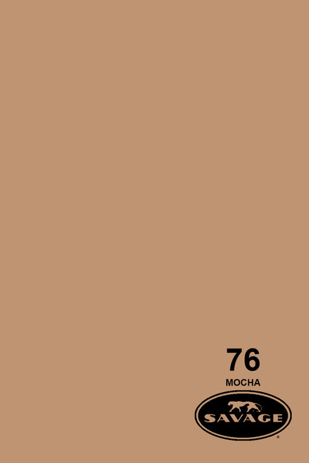 Savage Widetone Background Paper 107 Inch x 12 Yard Roll - #76 Mocha