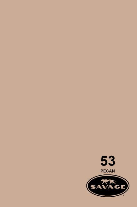 Savage Widetone Background Paper 107 Inch x 12 Yard Roll - #53 Pecan