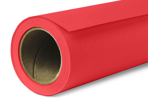 Savage Widetone Background Paper 107 Inch x 12 Yard Roll- #08 Primary Red