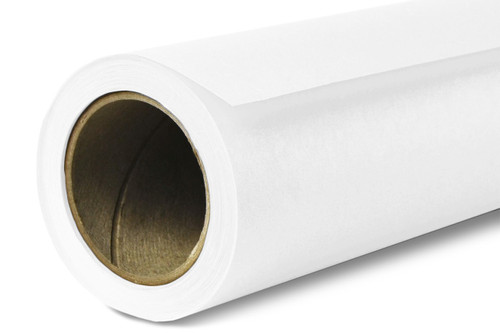 Savage Widetone Background Paper 107 Inch x 12 Yard Roll- #66 Pure White