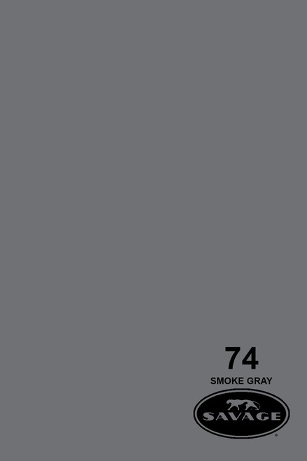 Savage Widetone Background Paper 107 Inch x 12 Yard Roll - #74 Smoke Gray