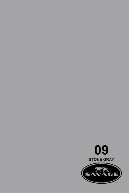 Savage Widetone Background Paper 107 Inch x 12 Yard Roll - #09 Stone Gray