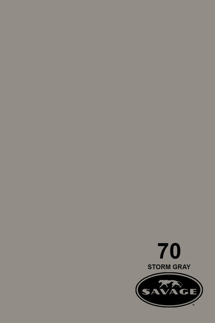Savage Widetone Background Paper 107 Inch x 12 Yard Roll- #70 Storm Gray