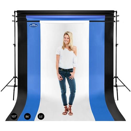 Savage Widetone Background Paper 107 Inch x 12 Yard Roll- #58 Studio Blue