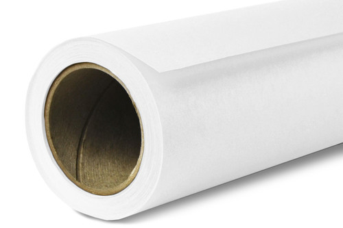 Savage Widetone Background Paper 107 Inch x 12 Yard Roll - #01 Super White