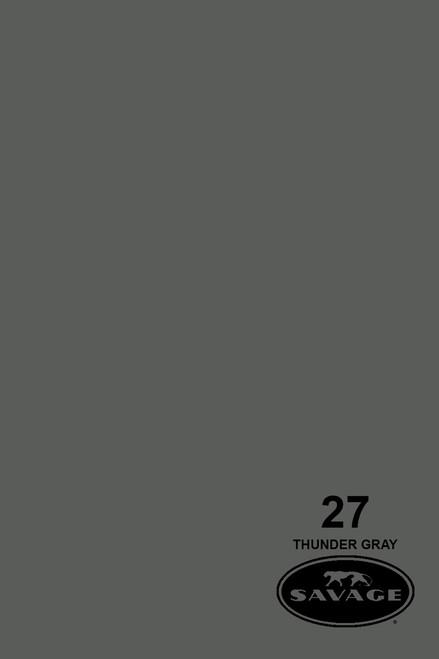 Savage Widetone Background Paper 107 Inch x 12 Yard Roll - #27 Thunder Gray