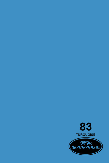 Savage Widetone Background Paper 107 Inch x 12 Yard Roll - #83 Turquoise