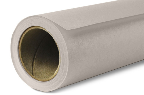 Savage Widetone Background Paper 107 Inch x 12 Yard Roll- #61 TV Gray