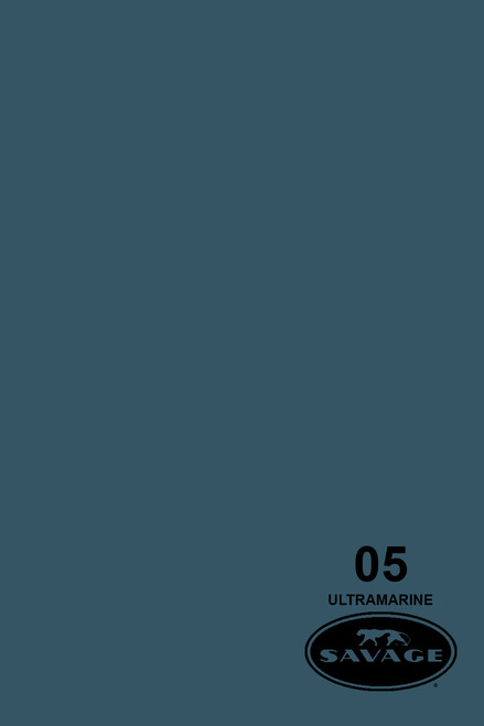 Savage Widetone Background Paper 107 Inch x 12 Yard Roll - #05 Ultramarine