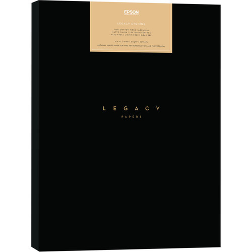 "Epson Legacy Etching Paper - 8.5 x 11"", 25 Sheets"