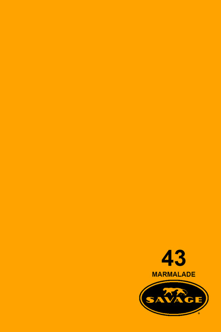 Savage Widetone Background Paper 53 Inch x 12 Yard Roll- #43 Marmalade