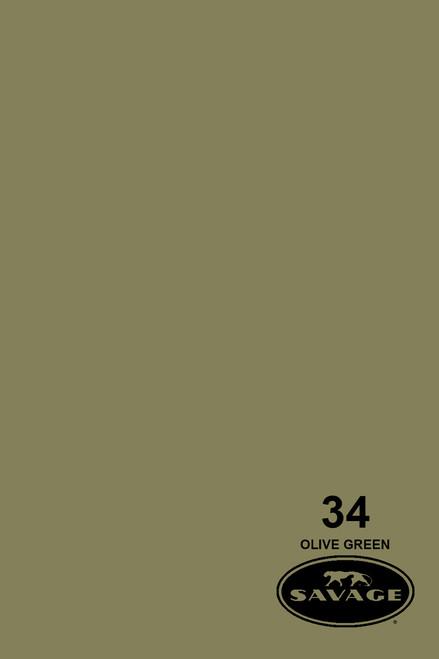 Savage Widetone Background Paper 53 Inch x 12 Yard Roll- #34 Olive Green