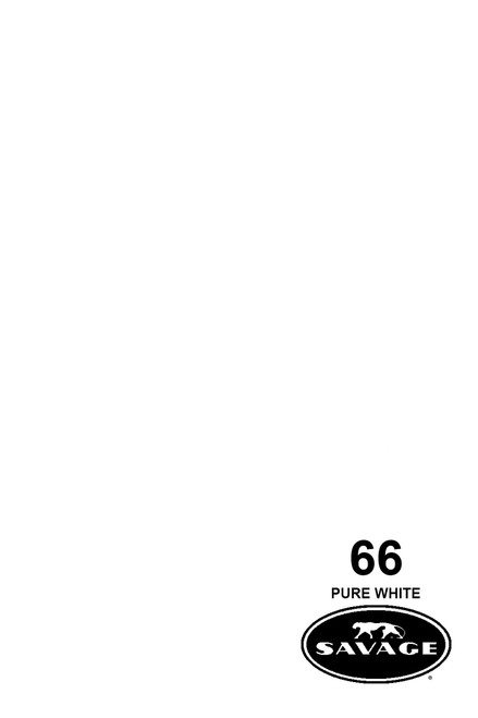 Savage Widetone Background Paper 53 Inch x 12 Yard Roll- #66 Pure White