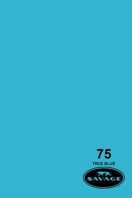 Savage Widetone Background Paper 53 Inch x 12 Yard Roll- #75 True Blue