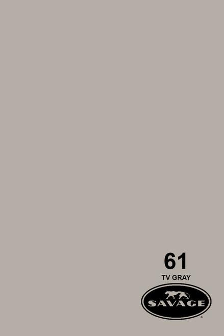 Savage Widetone Background Paper 53 Inch x 12 Yard Roll- #61 TV Gray