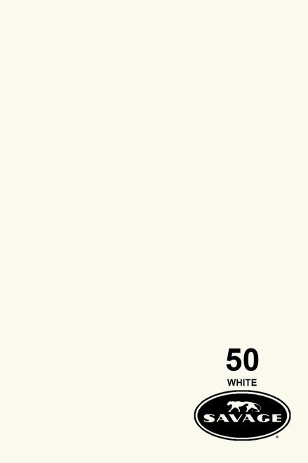 Savage Widetone Background Paper 53 Inch x 12 Yard Roll - #50 White