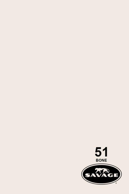 Savage Widetone Background Paper 53 Inch x 12 Yard Roll- #51 Bone