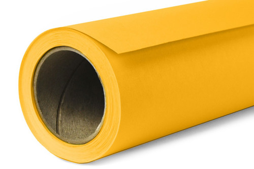 Savage Widetone Background Paper 53 Inch x 12 Yard Roll- #71 Deep Yellow