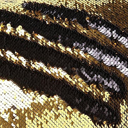 GTX Studio 8 x 10' Shimmering Sequin Background- Gold and Black