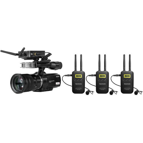 Saramonic VmicLink5 5.8 GHz SHF Three Microphone Wireless Lavalier and Receiver System- 5725 to 5875 MHz